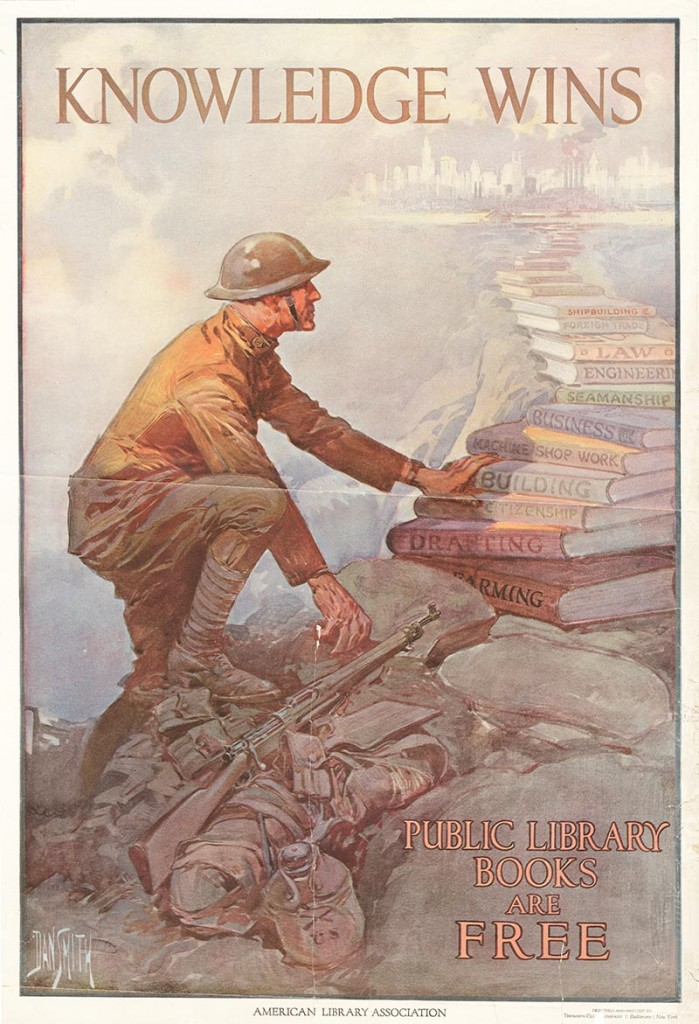 World War II was not the first time that American public libraries stressed the importance of books.   During World War I, reading was considered an important patriotic activity.