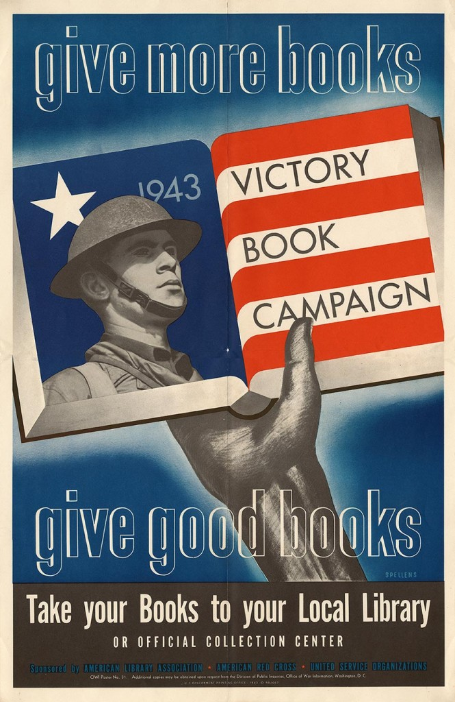 After reaching its goal of collecting 10 million books in 1942, the Victory Book Campaign was renewed for another year and librarians worked to raise another 10 million books in 1943.