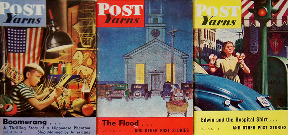 The smallest magazine of them all was the Saturday Evening Post's Yarns.  Measuring approximately 3 by 4.5 inches, they were truly pocket sized.