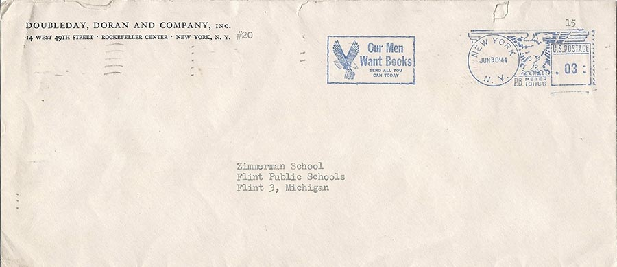 The Post Office helped advertise the campaign by designing a special Victory Book Campaign cancellation mark.